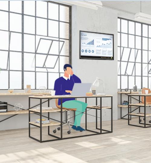 utilisateur wifi dans un espace de coworking
