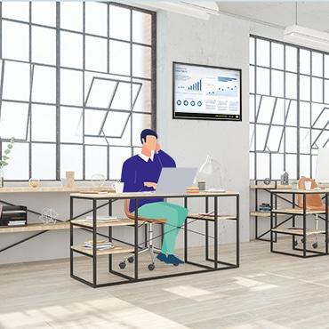 Modern open office space