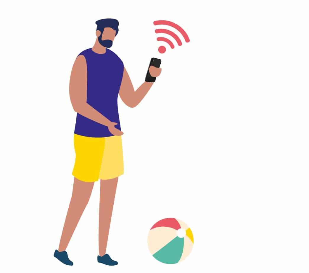 utilisateur du wifi au camping