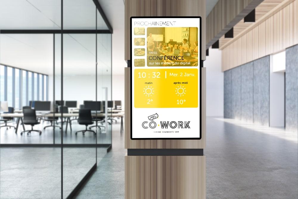 solution affichage dynamique coworking