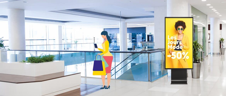 affichage dynamique centre commercial