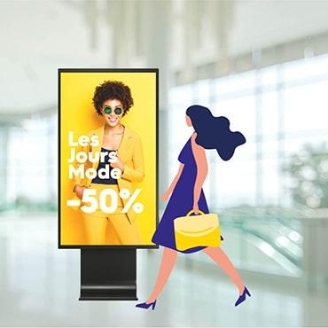affichage dynamique pour les magasins