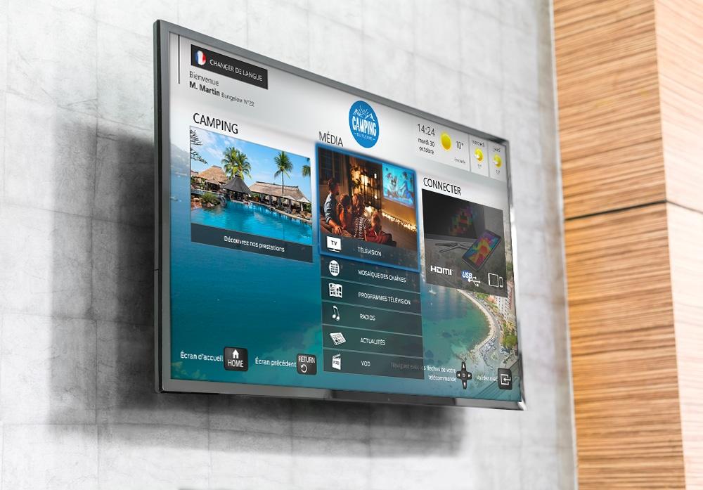TV camping avec interface personnalisée
