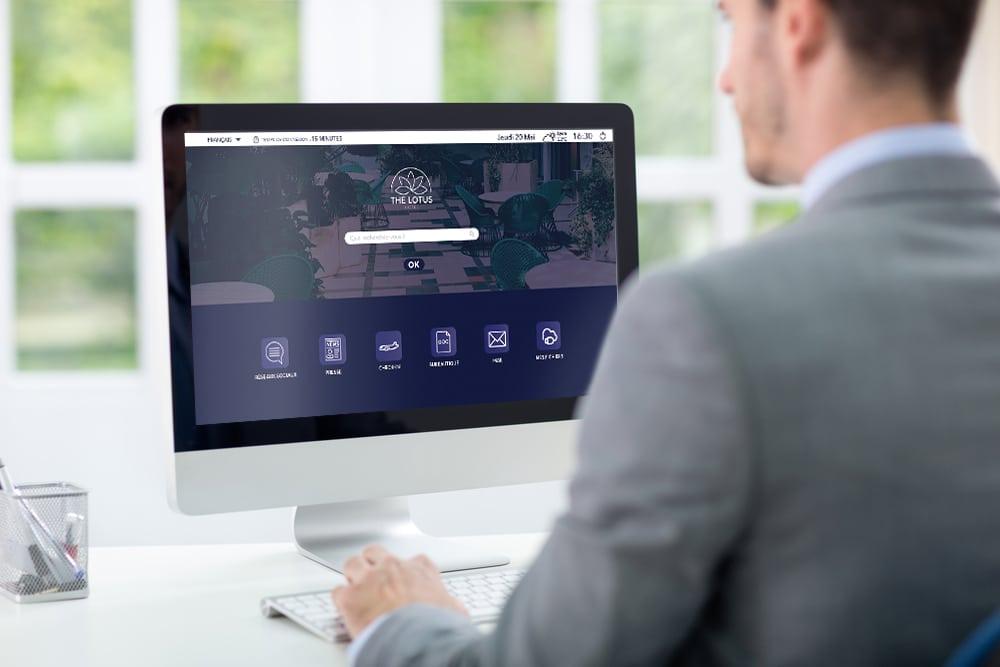 Webcorner hotel avec interface personnalisé