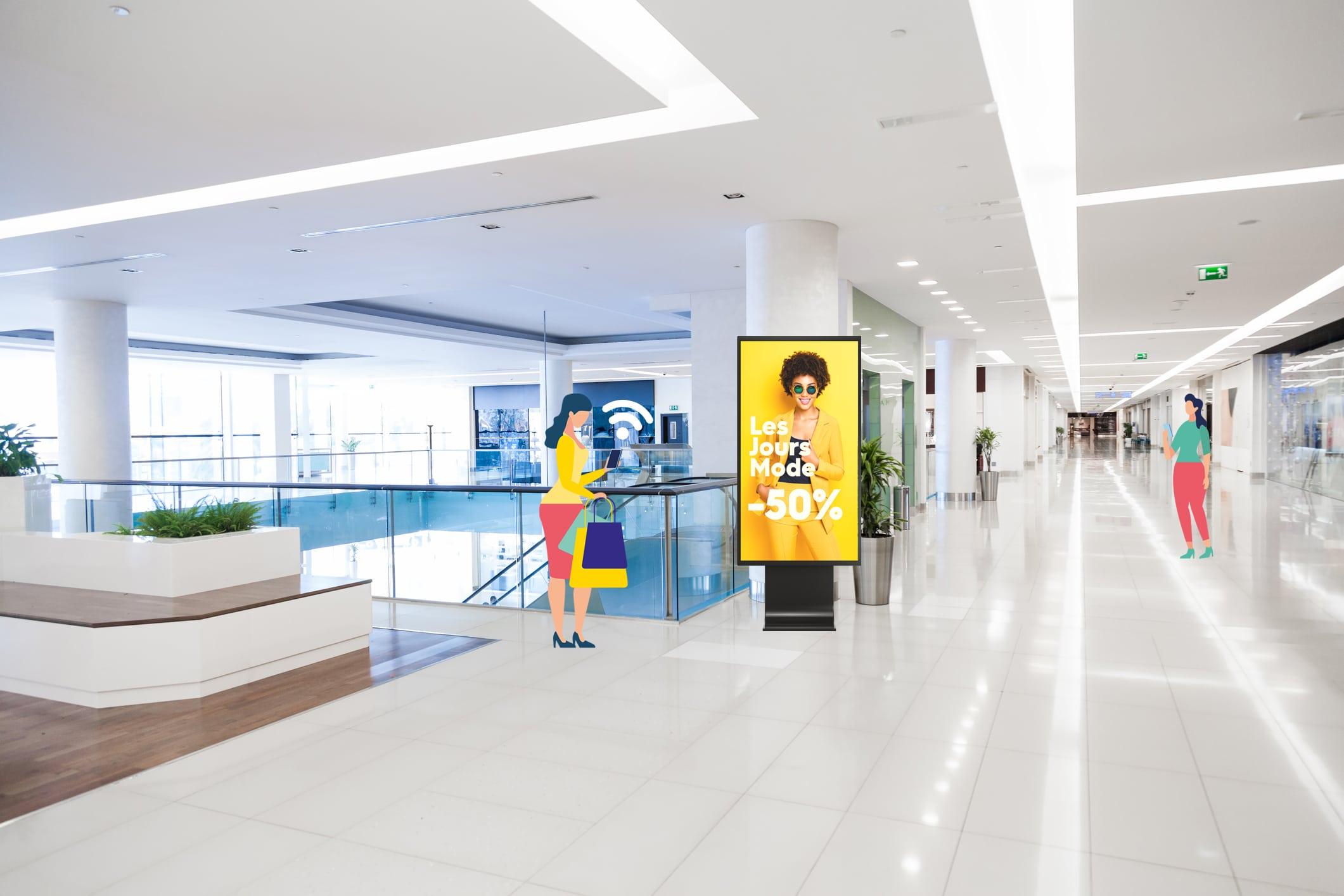 affichage dynamique pour centre commercial