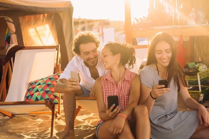 utilisateurs de wifi au camping
