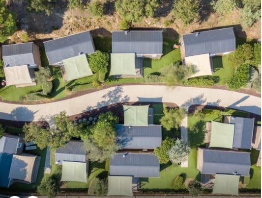 vue aérienne du camping les 4 Mûres